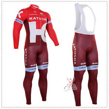 Ropa ciclismo entretiempo: Katusha maglie maillot cycling otoño pants jersey