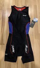 NWT ZOOT Women Performance Triathlon One Piece Race Suit Size XS Multi Colored