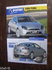 Postert Ford Puma Prospekt / Brochure / Depliant, D