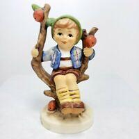 "4"" Goebel Hummel Figurine Herbst Apple Tree Boy 142 3/0"
