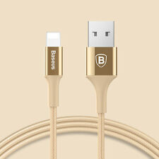 BASEUS 3ft Lightning USB Cable Sync Data Braided Fast Charger for Apple iPhone 7 Gold 5 Pack