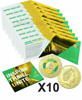 2019 $2 x 10 Wallabies Rugby World Cup coin in folder Royal Australian MINT UNC