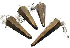 Selten Golden Pyrite Weissagung Pendel Wünschelrute Edelstein Kristall