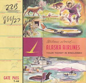 ALASKA Airlines, Ticket & Gate Pass Holder