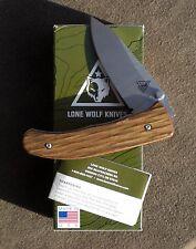 BENCHMADE LONE WOLF SWALE PLAIN EDGE DYMONDWOOD HANDLE LINERLOCK NIB