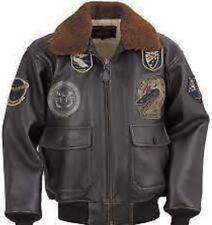 Schott G-1 Top Gun Leather Flight Bomber Jacket Small NWT $750