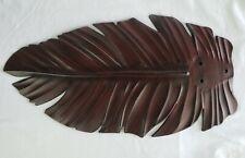 "Harbor Breeze Tropical Palm Leaf Dark Faux Wood 21"" Fan Blade Replacement D"