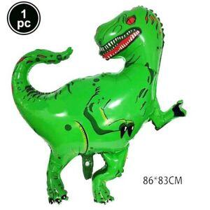 98PC Dinosaur Ballons Banner Dinosaur Theme Kids Birthday Party Decor Supplies B