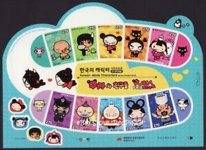 KOREA KOREAN-MADE Characters Series Stamps (2nd) PUCCA & Friends 2012