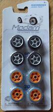 Modarri Performance Wheel Pack Drift & Grip tire Set (Black & Orange) Modarri