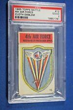 1965 Topps Battle Cards - Cloth Emblem #12 - 4th Air Force - PSA Good 2