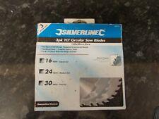 Silverline 3 Pack Of Circular Saw Blades