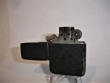 New listing ~ 1943-1945 ~ Black Crackle Wwii Three Barrel Hinge 14 Hole Insert Zippo Lighter