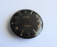 Watchmaker Watchmaking Dial Watch Curved Black Diameter 1 3/16in