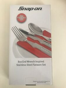 Snap on Cutlery Set Box End Wrench Inspired Stainless Steel Flatware Set New
