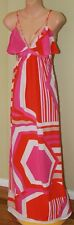 Womens Multi Colour Silk Maxi Dress - Seduce - Size 8