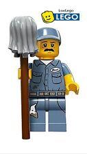 NEW LEGO Minifigures Janitor Series 15 71011 Cleaner Minifigure Mini Figure