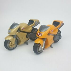 Little Tikes YELLOW 55 & GREY/GOLD 62 Motorcycles GLH750 Rugged Riggz