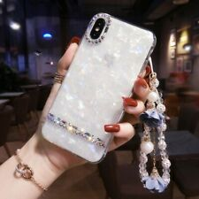 For Samsung Note10/Note8/S10/S9/S8 Diamond Marble Bling Case Cover Crystal Rope