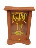 Vintage Wooden Gum 1 cent machine gumball