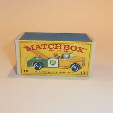 Matchbox Lesney 13 d Dodge Wreck Tow Truck empty Repro E style Box
