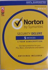 Norton Security Deluxe 5 Devices 2018 w/ Antivirus PC Mac Android iPhone Tablet