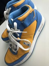 9f0ef03a4e042d Reebok NBA Downtime Blue Yellow White Basketball Mid Sneakers Mens Size 10