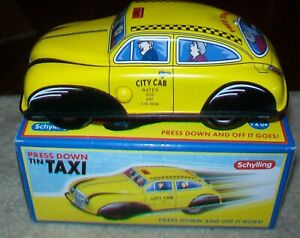 Tin Toy TAXI with Friction Motor & Engine 2008 Classic Car from Schylling