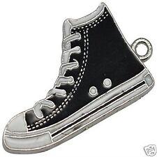 4 X émail plaqué argent Converse Boot Shoe Charms Pendants