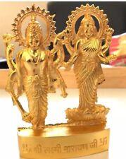GODDESS OF WEALTH LAKSHMI LAXMI VISHNU METAL STATUE HINDU IDOL DIWALI POOJA
