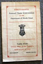 1942 RHODE ISLAND Ladies Grand Army of Republic GAR FCL Civil War VETERANS Vets