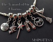 7pcs The Wizard of Oz European Bracelet Charms Dorothy Red Slippers Toto lot