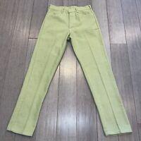 Vtg 50s 60s Mens 30 31 Pants CAMPUS Never Iron Slacks Light Green Midcentury Mod