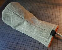 Golf Headcover - Driver, Natural Check 100% Pure British Wool heavy tweed gift