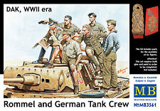 MASTER BOX™ 3561 Rommel & Tank Crew DAK Figuren in 1:35