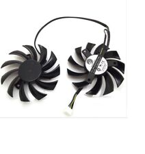 DUAL CPU FAN POWER LOGIC PLD08010S12HH FOR MSI GTX 560 570 580 VIDEO CARD