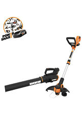 WORX Cordless String Trimmer& Blower WG929.1 Combo, 20V 2 batteries, Grass Weed