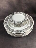 CELEBRITY Fine China MATADOR 6070 - 6 Dinner & 6 Bread Plates - 12 Pc Total