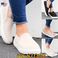 Women's Tennis Shoes Athletic Sneakers Ladies Running Slip On Pumps Loafer Shoes