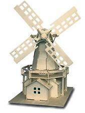 Windmill: Woodcraft Quay Construction Wooden 3D Model Kit P056 Age 7 plus