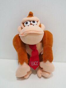 "Super Donkey Kong DK Yujin Plush 9"" Stuffed Toy Doll Japan Diddy Nintendo"