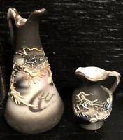 Vtg MINIATURE Asst. Pitchers Dragonware Ceramic Crystal Porcelain Victorian