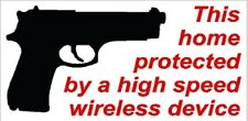 Home Protection High Speed WIreless Gun NRA Conservative window sticker decal