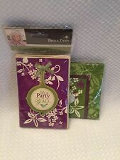 Paula Deen Pack 8 Invitations Matching Napkins IT'S A PARTY Y'ALL Purple Green