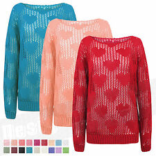 Women's Chunky, Cable Knit Knit Crew Neck Hip Length Jumpers & Cardigans