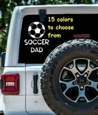 8 Sizes Soccer Dad Car Window Decal Sticker Macbook Laptop Tablet iPad Gift
