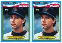 (2) 1988 Topps Toys R' Us Rookies Baseball 13 Mike Henneman Lot Detroit Tigers