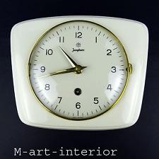 40er 50er JUNGHANS Wanduhr mit Schlüßel Uhr Mid Century Wall Clock vintage 1950s