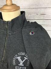 Men's Champion Zip Neck Sweater/Sweatshirt - XL - Grey - Great Condition