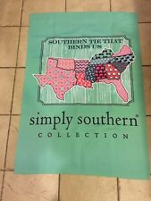 Simply Southern Collection Large Flag Pastel Green Around 28 X 40